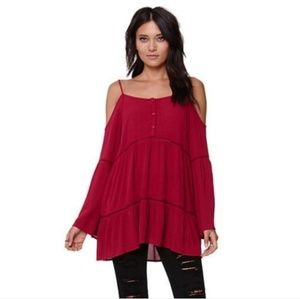 Kendall & Kylie Cold Shoulder Bell Sleeve Top